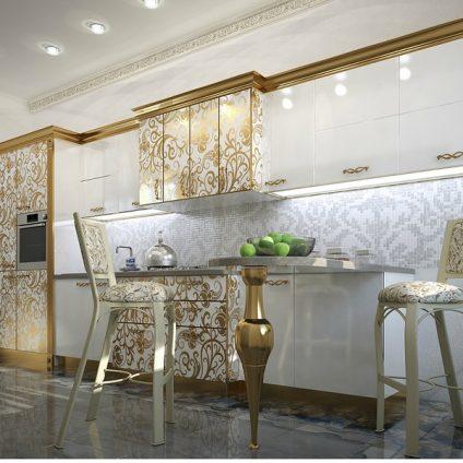 Кухня Белое золото
